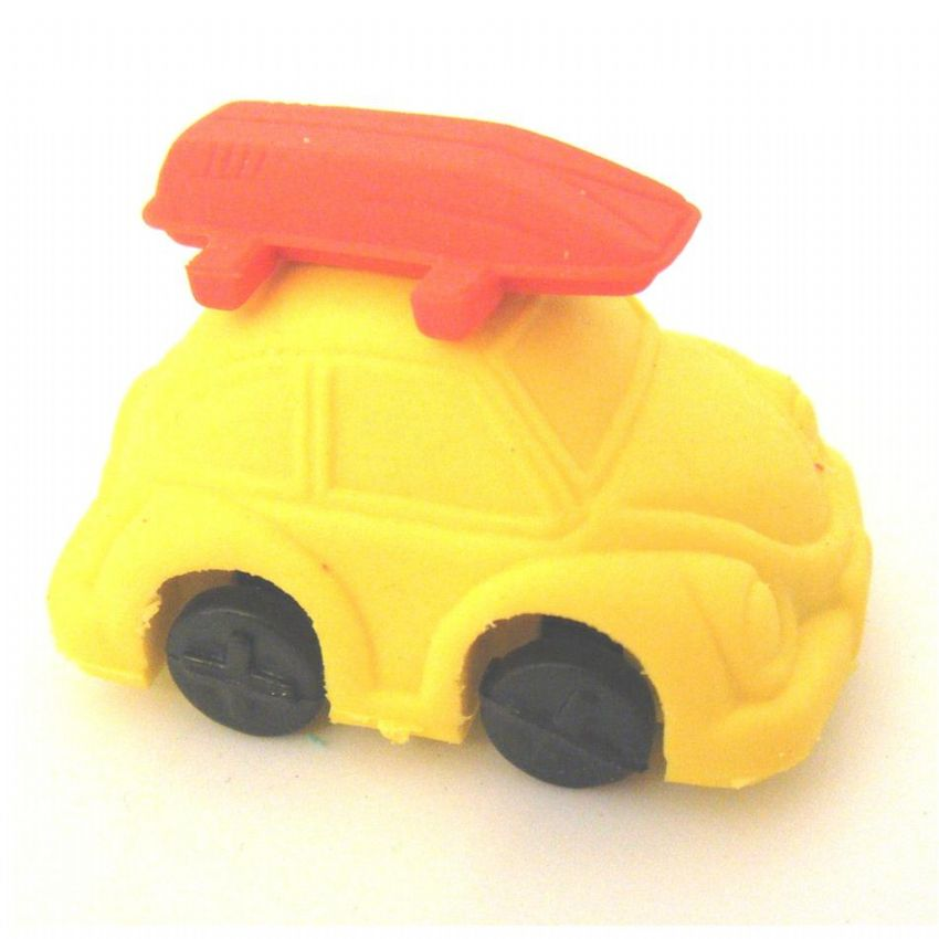 30 x Yellow Beetle Car - 3D Novelty Erasers Rubbers Wholesale Bulk Buy
